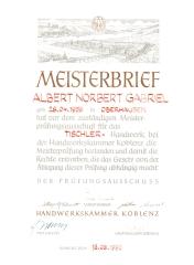 Albert Norbert Gabriel, 1980